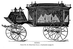A 19th Century Horse Drawn Carriage Hearse. Image from Carriage Musuem of America